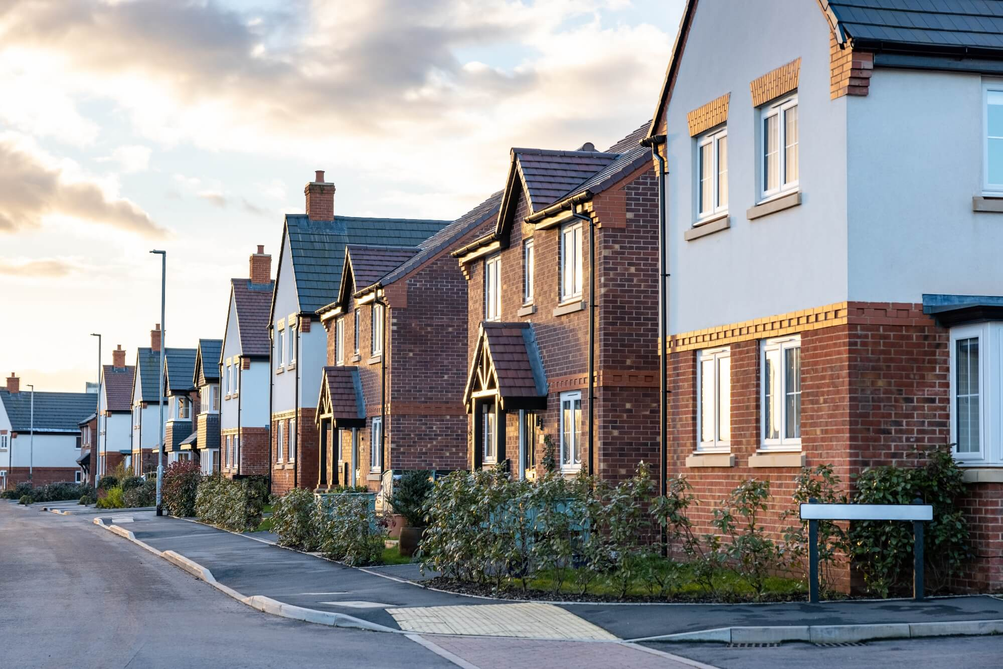detached new houses without misty windows in bristol